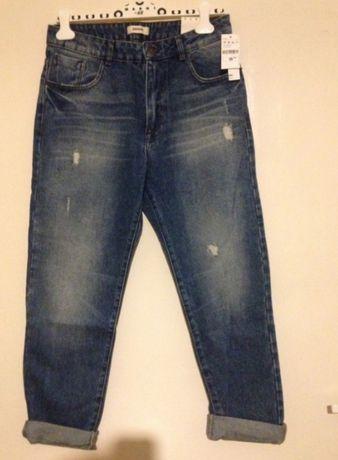 Nowe Spodnie jeansowe boyfriend high waist Pimkie