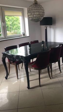 Piękny ,czarny ,duży ,ludwikowski stół !