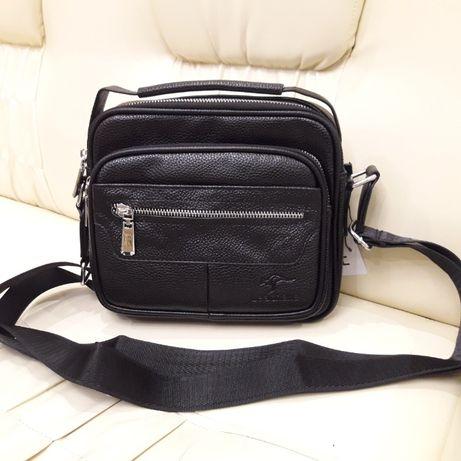 Стильная городская мужская сумка черная