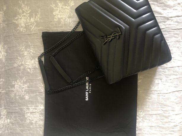 Модная кожаная женская сумка Saint Laurent
