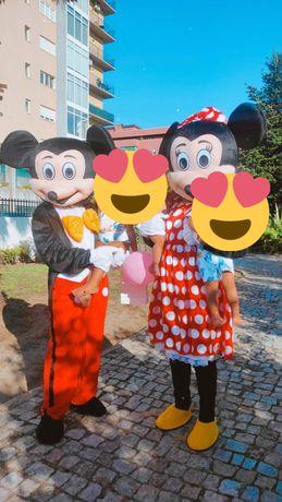 Mascotes Minnie e Mickey