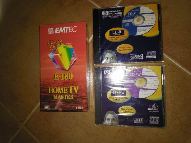 vhs , CD-R e CD-RW