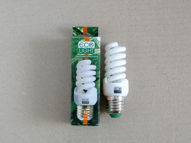 Лампа энергосберегающая, Ecolight 13 W / 13 Вт Е27 4000К новая