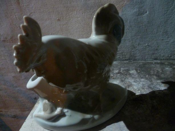 Фарфоровый Петух, карандашница,салфетница,статуэтка СССР
