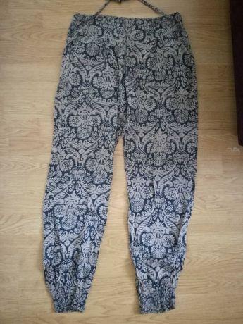 Cienkie spodnie haremki