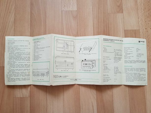 Radiomagnetofon Kasprzak. RB 3200. Instrukcja