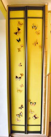 Двері до шафи, лакобель, з художнім розписом