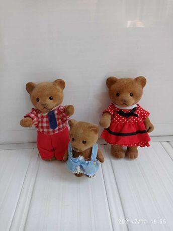 Животные флоксовые Happy Family мишки.медведи.ЛОТ