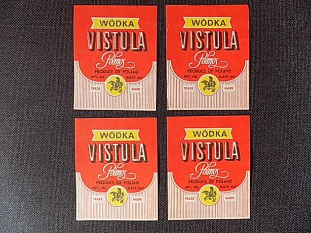Etykiety wódki VISTULA - oryginał ! - PRL