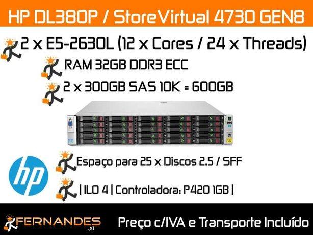 HP DL380P G8 / StoreVirtual 4730 | 24vCPUs | 32GB RAM | 24 x HDDs