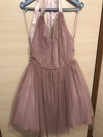 Sukienka na wesele Asos pudrowy róż tiul