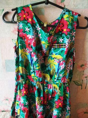 Продам летнее платье на худенькую девушку.Длина 80,ширина 30.+ Резинка