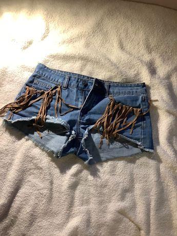 Krótkie, spodenki jeansowe