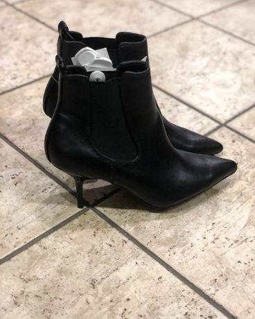 Botki buty nowe eleganckie szpilka 38 40 czubek hit modne zima