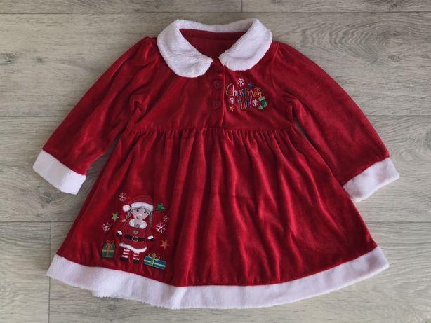 Платье помощницы Санты новогоднее matalan 9-12 мес