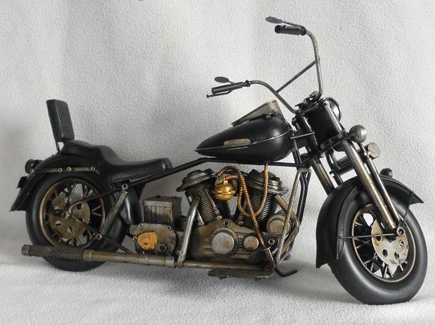 Metalowy czarny MOTOR retro pojazd 40,5 cm