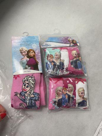 Zestaw Disney Frozen Bielizna Dziewczęca 2X3 FIGI+RAJSTOPY