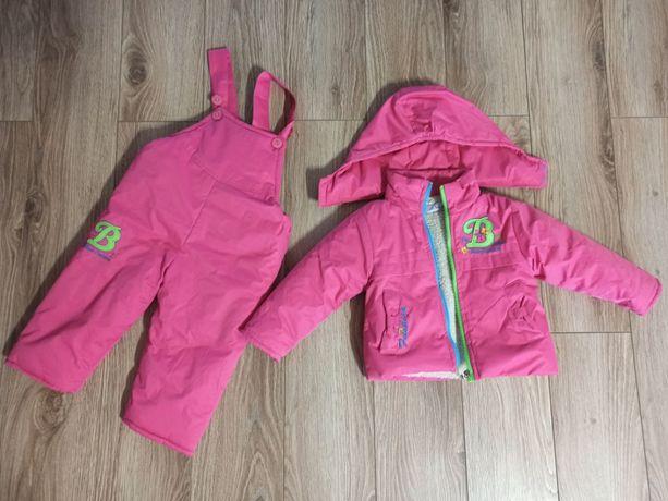 komplet zimowy dla dziewczynki kurta spodnie ocieplane