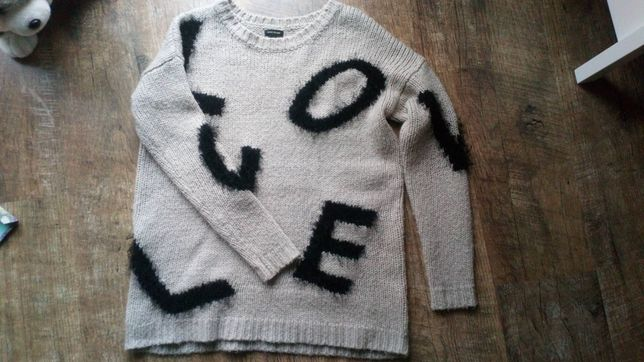 Sweter river island 6 xs 34 beżowy