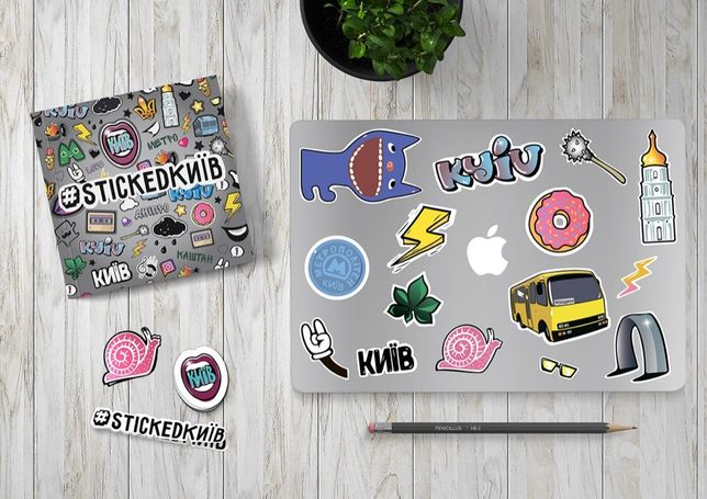 Стикеры виниловые наклейки на ноутбук авто велик скейт Стикербомбинг