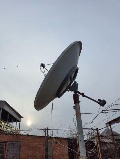 Спутниковая антенна (тарелка ) 1,8 м с актуатором и головками