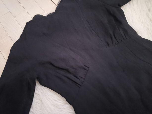 Nowa sukienka maxi z piękna falbanką, z metką glamorous