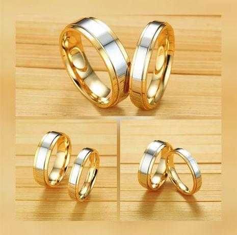 Niezwykła Para Złotych Obrączek Ślubnych