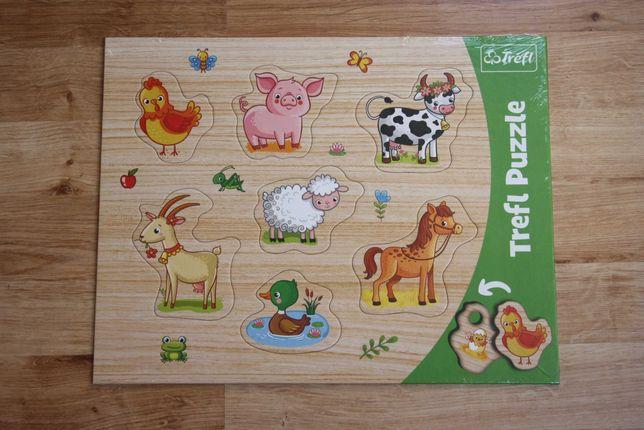 NOWE Puzzle Trefl Ramkowe układanki kształtowe - Zwierzęta na wsi