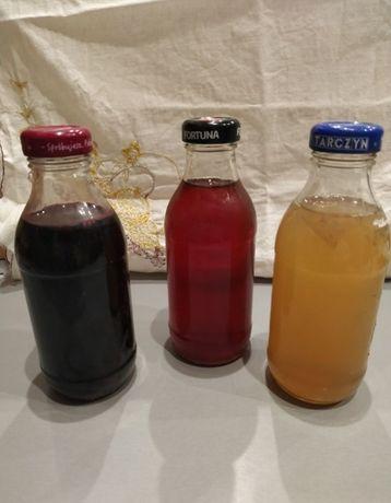 Sok, soki domowej roboty o smaku aronii,truskawek,wiśni,jabłek,śliwki
