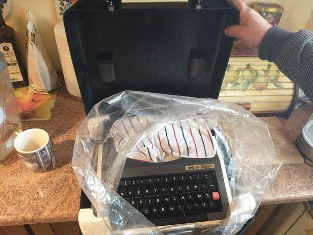 Maszyna do pisania HEBROS 1300F Nieużywana z walizką