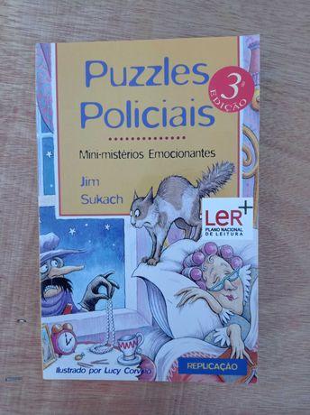 """Livro """"Puzzles Policiais"""" Jim Sukach"""