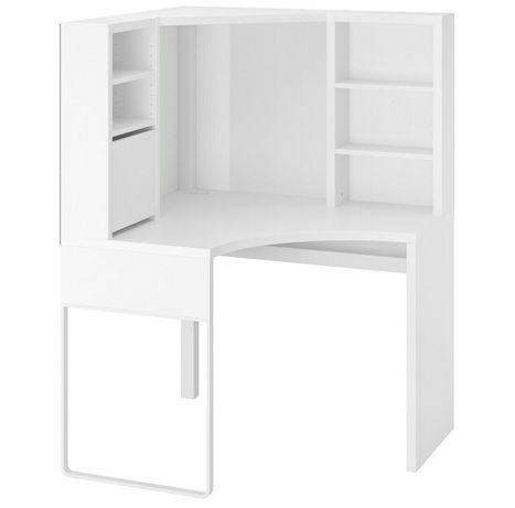 Nowoczesne białe biurko IKEA Mickey szuflady dowóz wysyłka tanio