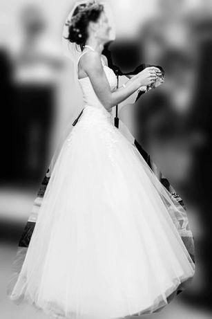 Białka Suknia Ślubna PRINCESSA
