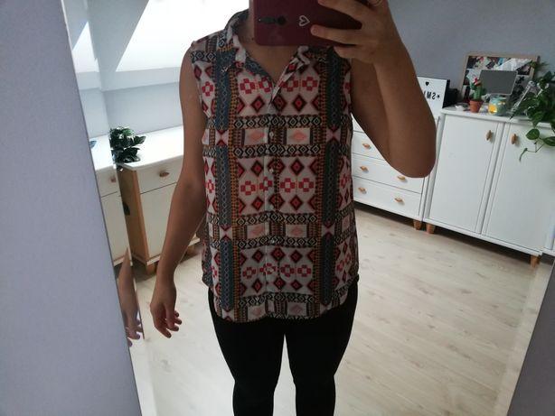 Koszula bez rękawów w etniczne wzory h&m