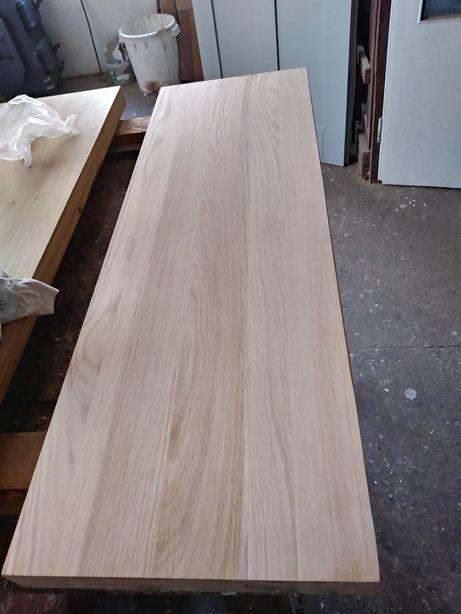 Stopnie dębowe z litego drewna