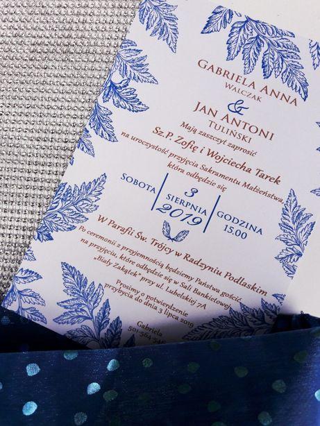 Zaproszenia ślubne i na inne okazje - Zimowy Las