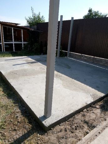 Фундамент. Заливка бетона, стяжка, отмостка, штукатурка