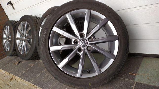"""Koła aluminiowe VW POLO 16"""" 5x100 opony letnie 215/45/16"""