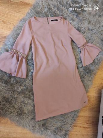 Sukienka szerokie rękawy mohito S M 36 38