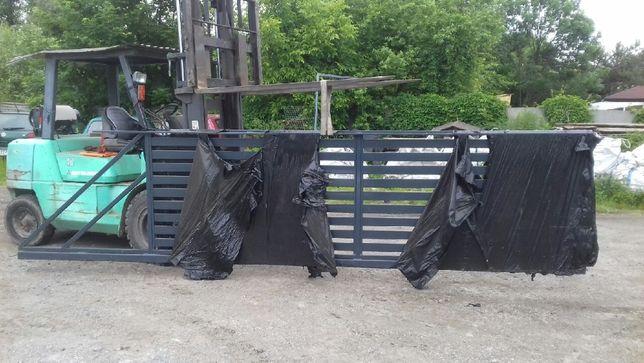 Brama przesówna H 130/L 400/ocynk/RAL 7016