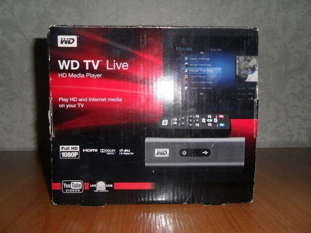 Медийный HD проигрыватель WD ТВ Live