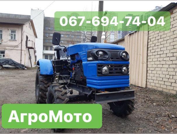 Мототрактор ТИТАН Т-24 + ФРЕЗА 140 и Двухкорпусный ПЛУГ с ДОСТАВКОЙ