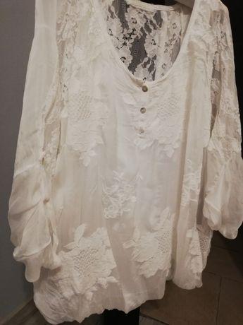 Bluzeczka biała  róż 42