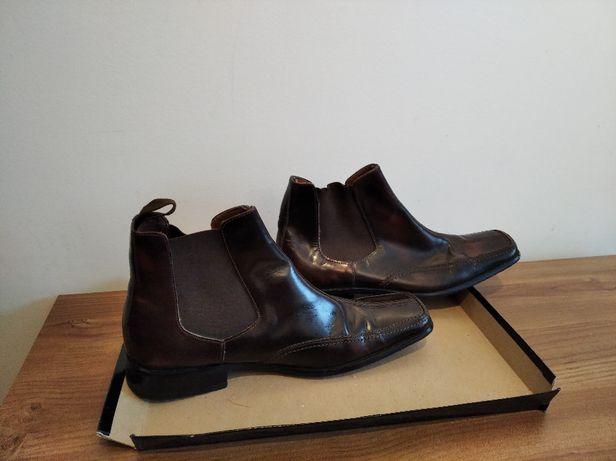 Buty męskie brązowe rozmiar 7 --- 40