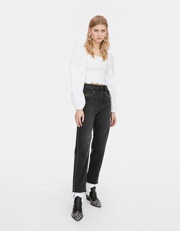 Джинси черные stradivarius zara mom jeans