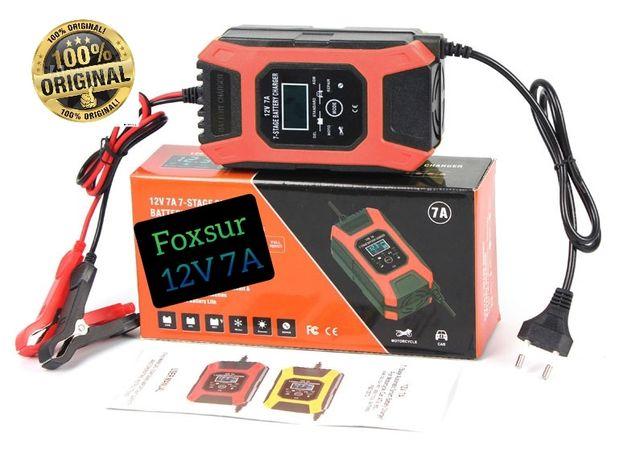 Зарядное устройство FOXSUR 12 В/7A для аккумулятора атомобилей,мото