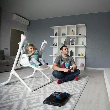 Детский стульчик для кормления, шезлонг, качель 3в1 Carrello Triumph