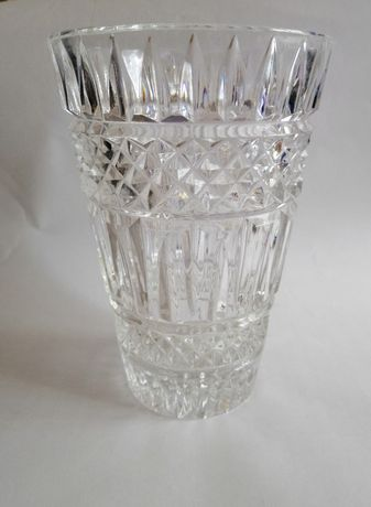 Piękny duży wazon Ząbkowice szkło prasowane