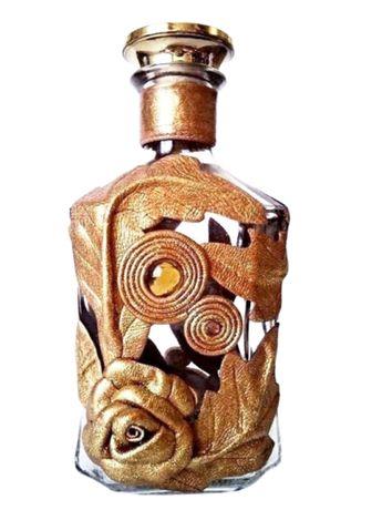 Подарочная бутылка для любых напитков, ваза для цветов, декор кожей
