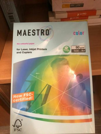 Бумага цветная для принтера Maestro